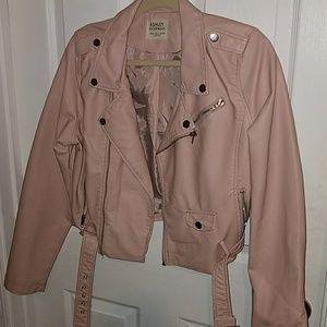 "Blush pink ""leather"" jacket"